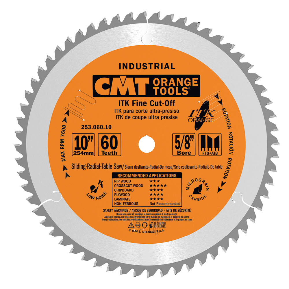 ITK finish sliding compound miter circular saw blades